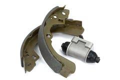Nuevos zapatas de freno y tambor de freno del cilindro () Imagen de archivo libre de regalías