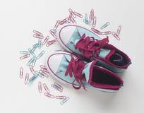Nuevos zapatos Imagen de archivo libre de regalías