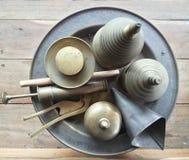 Nuez de betel hecha de latón Imagenes de archivo