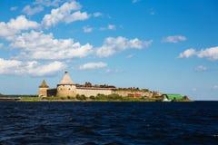 Nuez de castillo en Schlisselburg, St Petersburg, Rusia foto de archivo libre de regalías
