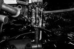 Nuez del punto de la soldadura automotriz Fotografía de archivo libre de regalías