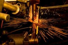 Nuez industrial del punto de la soldadura Imagen de archivo