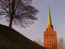 Nuffield学院尖顶  图库摄影