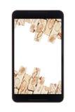 Nugat im Smartphone Lizenzfreie Stockbilder