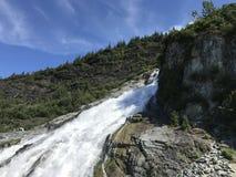 Nugget-Fälle, Juneau, Alaska lizenzfreies stockbild