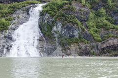 Nugget Falls at Mendenhall Glacier Stock Image