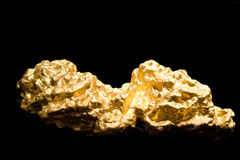 Nugget of Gold Royalty Free Stock Photos