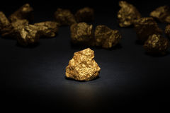 Nugget gold Royalty Free Stock Image