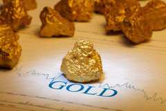 Nugget gold Stock Image