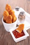 Nugget and ketchup Royalty Free Stock Images