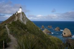 Nugget Point. In New-Zealand Stock Photography