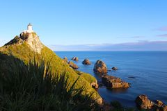 Nugget Point, The Catlins, New Zealand stock image