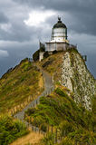 Nugget Point Light House Stock Photography