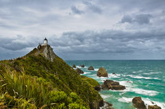 Nugget Point Light House Stock Image