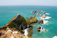 Nugget Point Light House, New Zealand Royalty Free Stock Photos