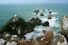 Free Nugget Point Lighthouse Stock Photo - 26207120