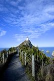 Nugget Point Lighthouse, The Catlins NZ. Nugget Point Lighthouse, The Catlinsa green region of the south island new zealand Stock Images