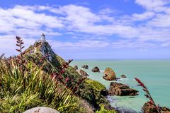 Nugget Point Lighthouse Farol stock photo