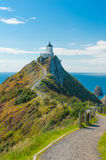 Nugget Point. Lighthouse on Nugget Point. It is located in the Catlins area on the Southern Coast of New Zealand, Otago region. The Lighthouse is surrounded by stock images