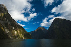 Milford Sound, New Zealand. Milford Sound, south island in New Zeland. Beautiful landscape royalty free stock photo