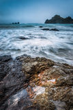 Nugget point Lighthouse, New Zealand. Nugget Point Lighthouse in the Catlins, South Island in New Zealand Royalty Free Stock Photo
