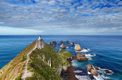 Nugget Point Lighthouse, New Zealand. Nugget Point Lighthouse, South Island, New Zealand stock photography