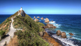 Nugget Point Lighthouse, New Zealand Royalty Free Stock Photography