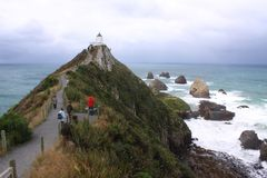 Nugget Point in New Zealand. royalty free stock photo