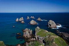 Nugget Point Rocks - New Zealand Royalty Free Stock Images