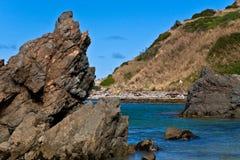 Nugget Point Rocks - New Zealand Stock Photo
