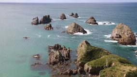 Nugget Point stock video footage