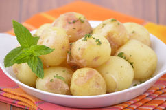 Nugget potatoes with mint Stock Images