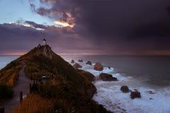 Nugget-Punkt-Leuchtturm stockbilder