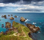 Nugget-Punkt, Neuseeland Stockbild