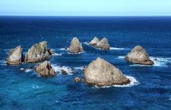 Nugget-Punkt, Neuseeland Stockbilder