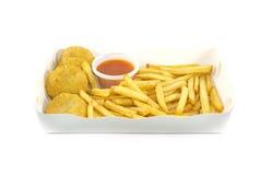 Nugget und Pommes-Frites lizenzfreie stockfotos