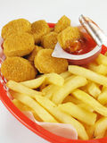 Nuggets Basket Royalty Free Stock Photo