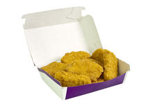 Nuggets in a box Royalty Free Stock Image