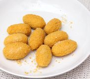 Nuggets of cheese Royalty Free Stock Photography