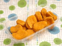 Nuggets of chicken Stock Image