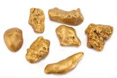 Nuggets des Goldes Stockfotografie