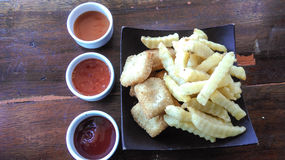 Nuggets and French Fries Royalty Free Stock Photo