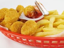 Nuggets & Fries Stock Photo