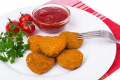 Nuggets hearts to Valentine Day royalty free stock image