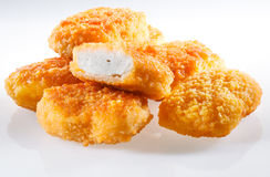 Nuggets. Isolated on white background royalty free stock images