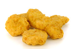 Nuggets isolated on white background. Royalty Free Stock Images