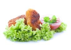 Nuggets and ketchup Stock Photo