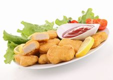 Nuggets and ketchup Stock Images