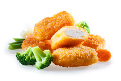 Nuggets with vegetables Stock Photography