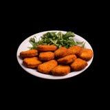 Nugs de poulet frit Photos stock